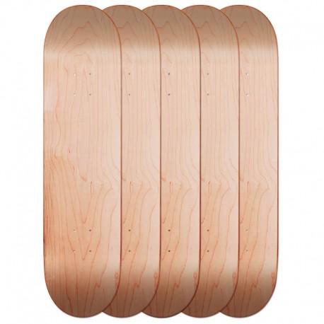 Lot de 5 planches de skate nude board vierge pas cher a petit prix bois naturel - Planche de skateboard vierge ...