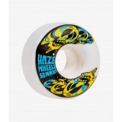 Roue HAZE WHEELS DEATH ON ACID ROUND ROUE (WHITE) 53MM 101A ( jeu de 4 )